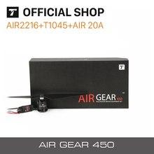 T-MOTOR engrenage pneumatique 450 COMBO 2216 KV880 moteur + T1045 + AIR 20A ESC pour débutant rc edu drone et spectacle