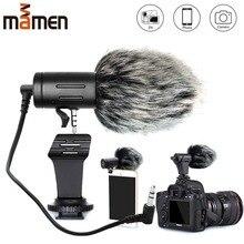Mamen Telefoon Microfoon Mini Draagbare 3.5 Mm Condensor Telefoon Video Camera Interview Microfoon Met Mof Voor Iphone Samsung Mic