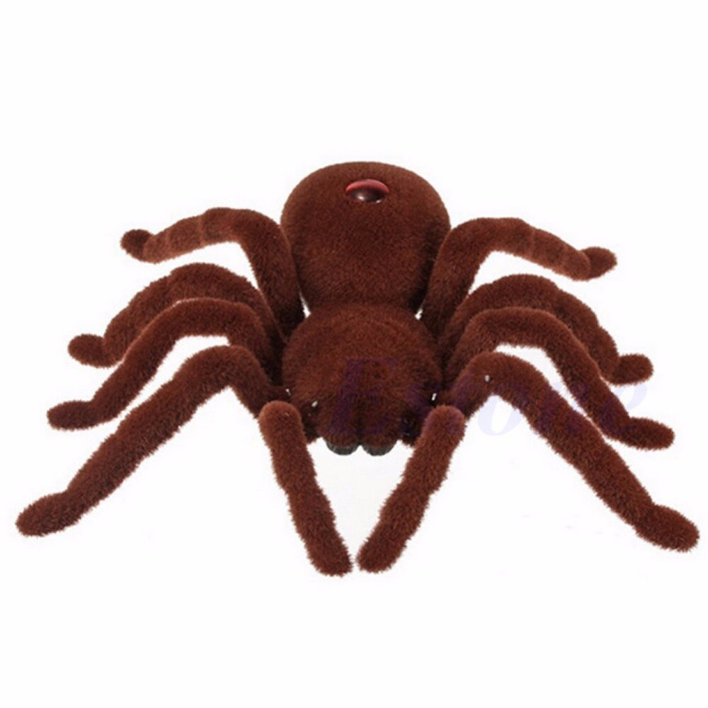 New Scary Remote Control Creepy Soft Plush Spider Infrared RC Tarantula Toy Kid Gift enlarge