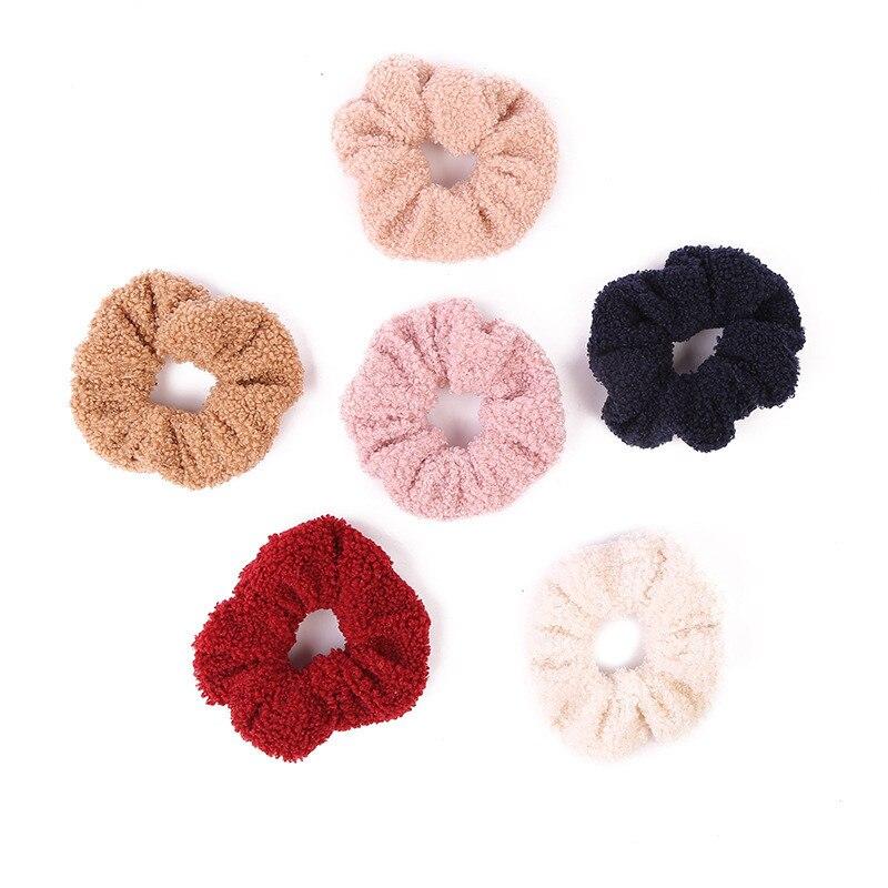 Envío Gratis, bandas de pelo de terciopelo suaves y bonitas para mujer, cintas para el pelo de invierno para niñas, accesorios para el pelo para niñas, soporte para coleta