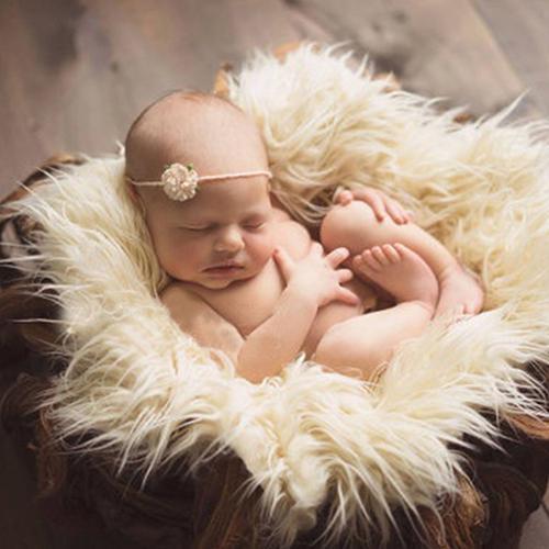 Фон для фотосъемки с искусственным мехом, для новорожденных, шерстяной плед, однотонный фон для фотосъемки, для детей, Детский ковер