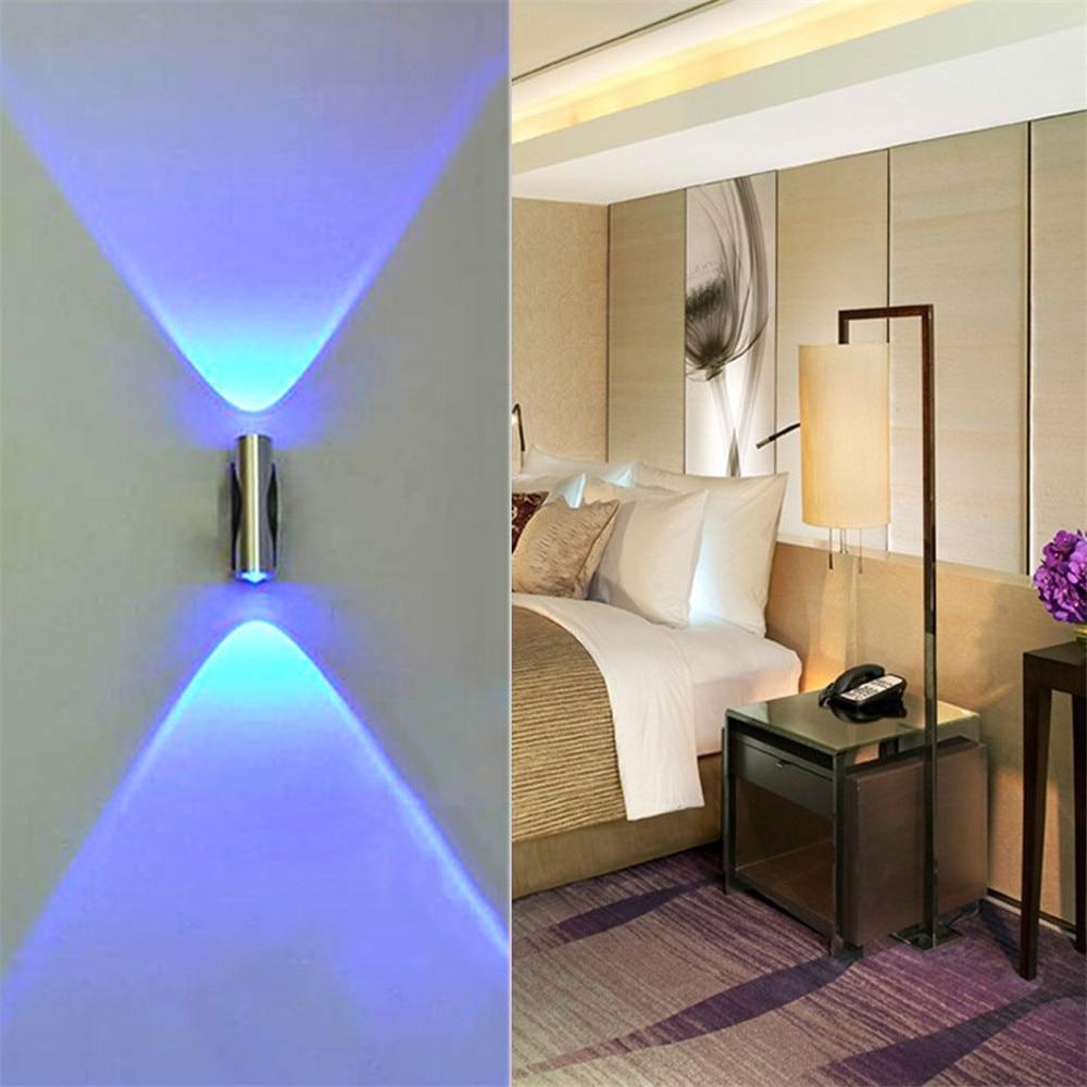 Double headed LED Wall Lamp Home Sconce Bar Porch Wall Decor Light Blue Headlamp For Home Bedroom Restaurant Garden#20