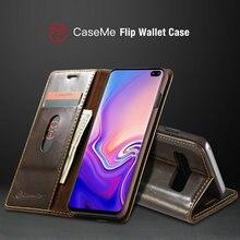 CaseMe etui portefeuille magnétique pour Samsung Galaxy S10 luxe Double bord carte étui à rabat pour Galaxy S10e Note 8 9 S6 S7 S8 S9 + étuis