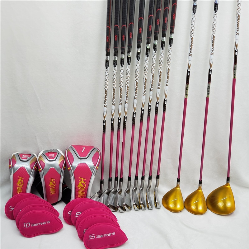 Women's Golf Complete Set Honma Beres IS-06 4 Star Club Set Driver+Fairway+Iron+Putter/13Pcs Graphite Shaft L Flex ( No Bag)