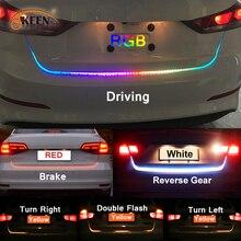 Obright-feu de retournement ambre led   led de coffre, bagages 12V, lampe arrière de voiture, banderole dynamique, bande RGB flottante, led