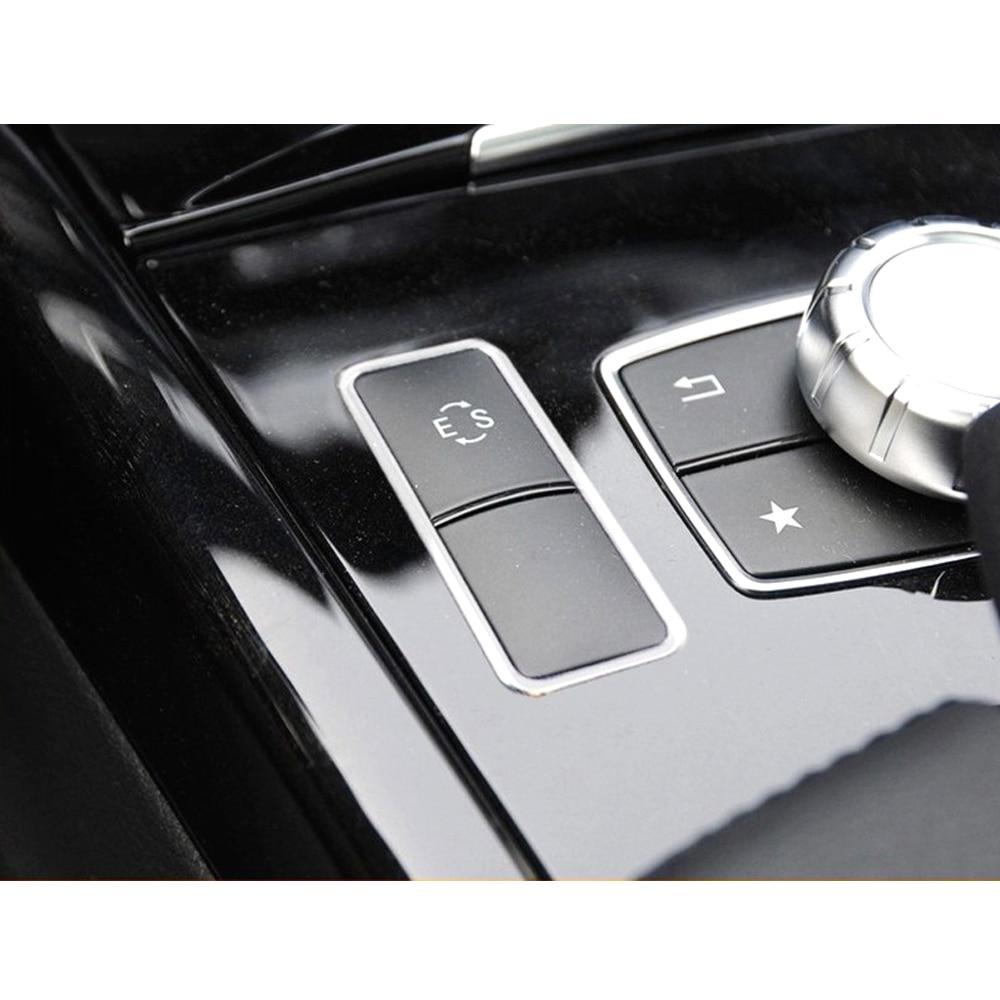 نحى الألومنيوم ES غطاء أزرار إطار الكسوة لمرسيدس بنز E الفئة W212 E200L E260L E300L 2014 2015 كروم اكسسوارات السيارات