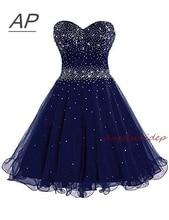 ANGELSBRIDEP Sparking Beading Homecoming Dress Vestido De Formatura Curto Sweetheart Organza Short Graduation Dresses Lace-up