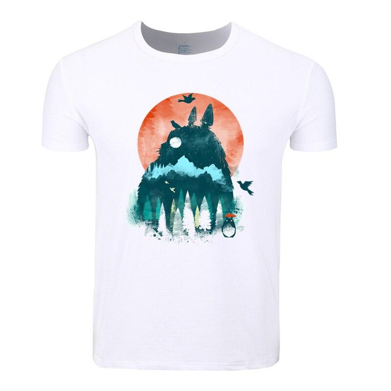 Asian Size Men Women Print Miyazaki Hayao Kawaii Totoro Japanese Anime T-shirt O-Neck Short Sleeves Harajuku Tshirt HCP4117