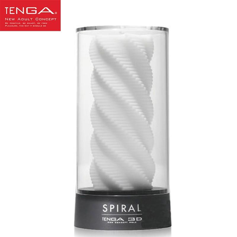 TENGA 3D Spiral Masturbation Cup Male Masturbator Sex Cup for Men Training Soft High-grade Aircraft Cup Sex Toys for Men