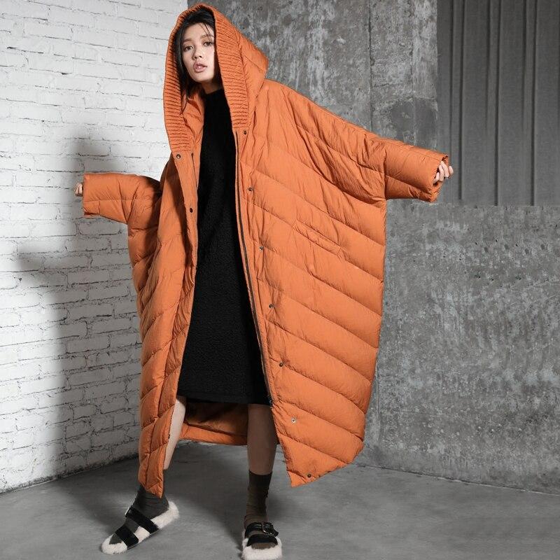 IRINAY205 جديد وصول 2020 عادية الدافئة سميكة مقنعين x معطف الشتاء طويل عباءة كبيرة الحجم الأبيض بطة سترة نسائية ثقيلة