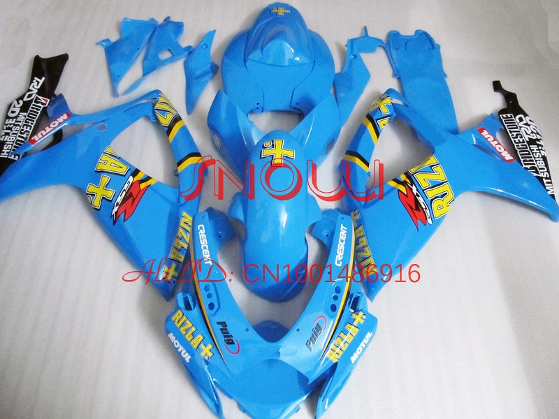Light Blue for SUZUKI GSX R600 R750 06-07 GSXR 600 750 GSXR600 GSXR750 GSX-R600 GSX-R750 K6 06 07 2006 2007 Fairing Kit