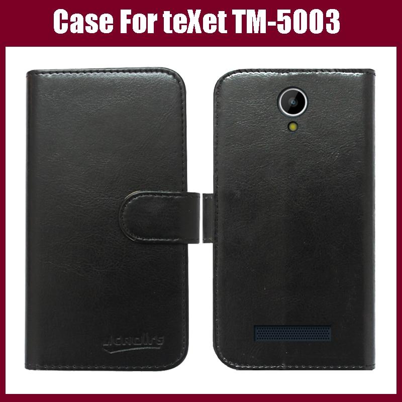 TeXet TM-5003 caso nueva llegada 6 colores alta calidad Flip cuero exclusivo caso de la cubierta protectora para teXet TM-5003 caso