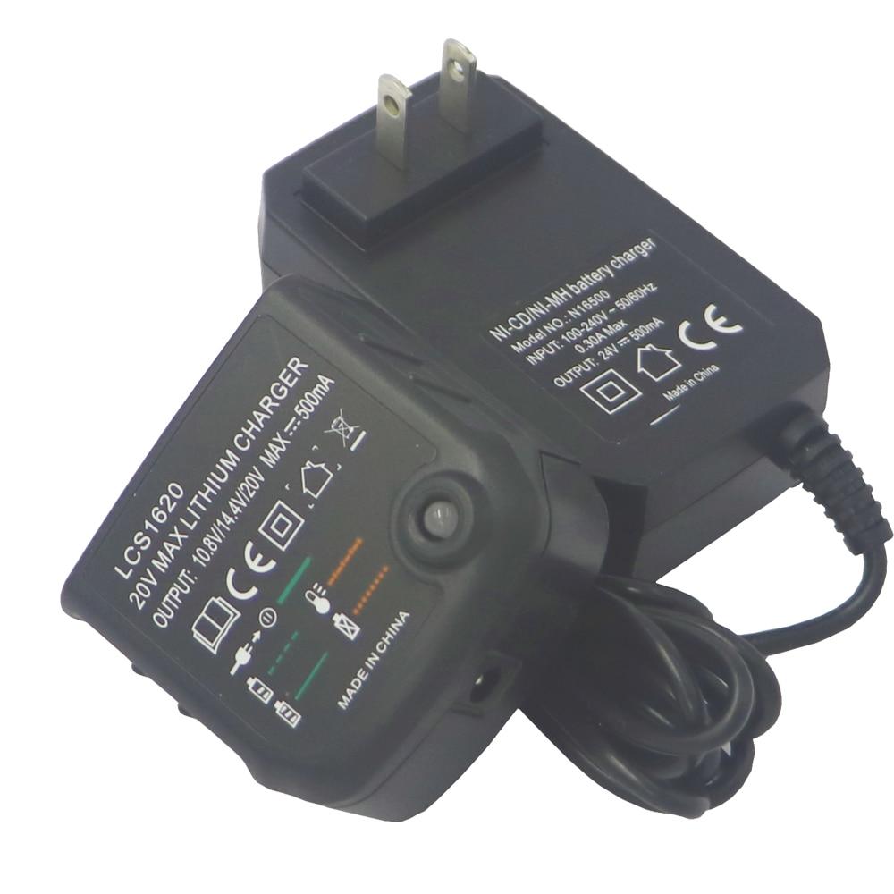 Carregador de Bateria de lítio LCS1620 para Black Decker 20V bateria li-ion LBXR20 LBXR20-OPE LB20 LBX20 LBX4020 LB2X4020 LB2X3020-OPE