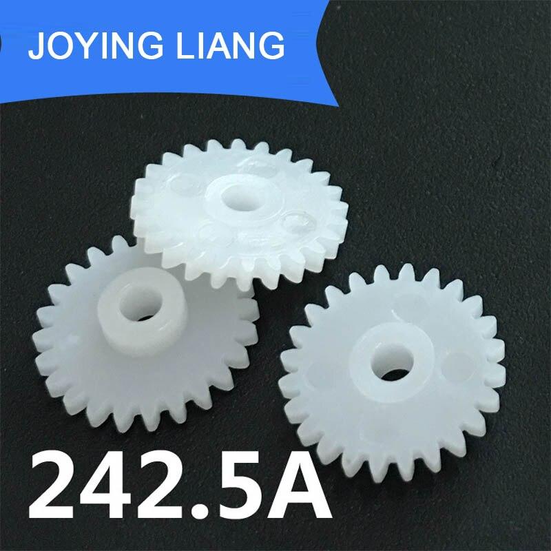 242.5A 0.5M Gear Wheel 24 Teeth Hole 2.5mm Tight DIY Model Toy Motor Parts Pinion Accessory 10pcs/lot