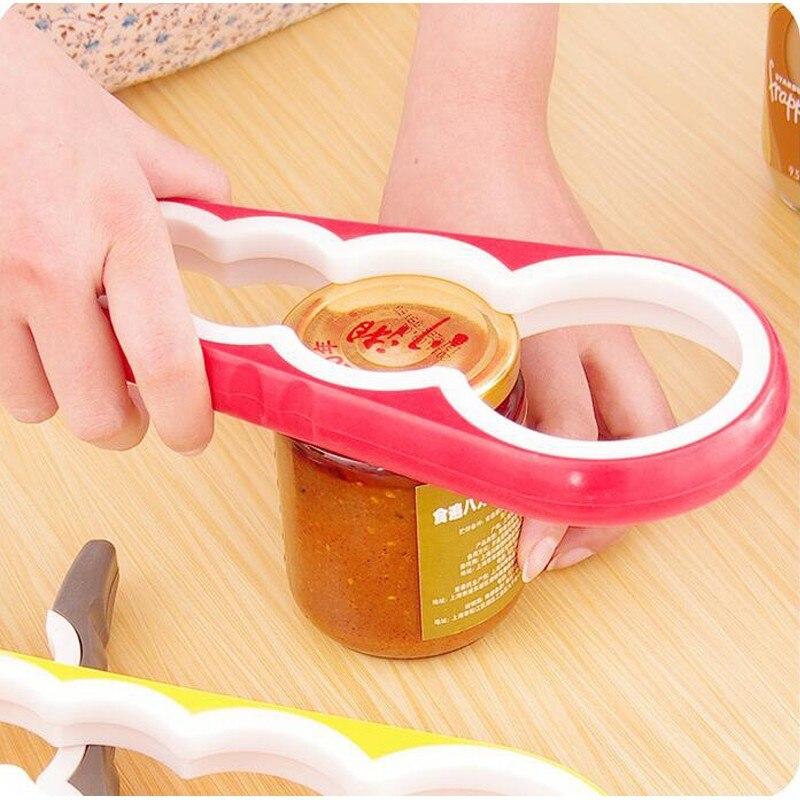 Abridor de latas multifunción 4 en 1, herramienta para abrir botellas, abrelatas...