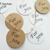 100pcslot 2 colors round paper tags for you paper card tag labels diy scrapbooking crafts gift hang tag party favors 4 3cm