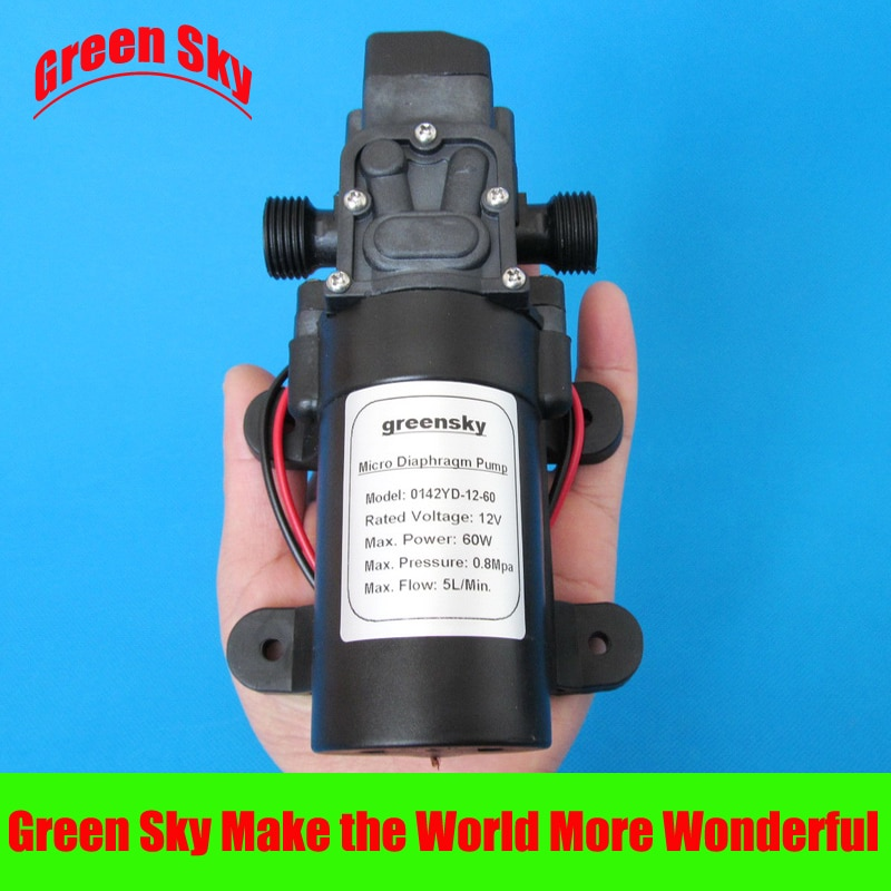 Bomba de diafragma de interruptor automático de 12v de alta presión 116PSI 300L/H DC 60W