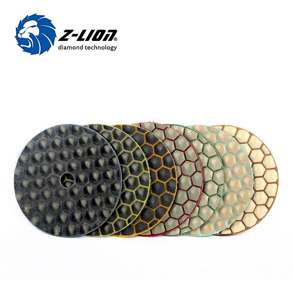 Z-LION полировальный диск для гранитного мрамора, 7 шт./компл., 3 дюйма, 80 мм