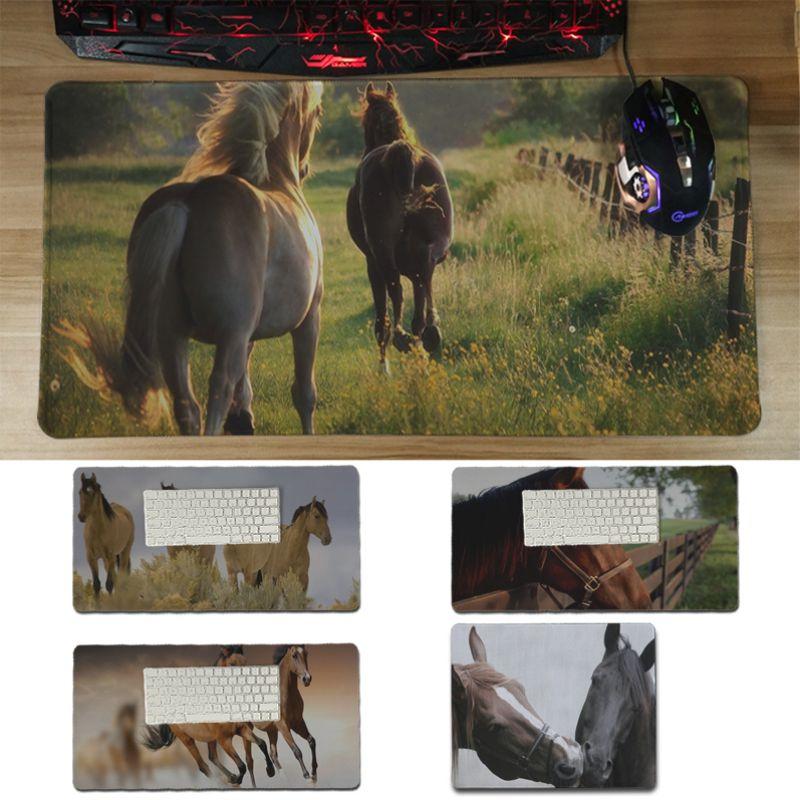 Yinuoda antideslizante para PC caballo jugador jugar alfombrillas, esterilla para ratón tamaño 18x22cm 20x25cm 25x29cm 30x60cm alfombrilla de ratón del juego