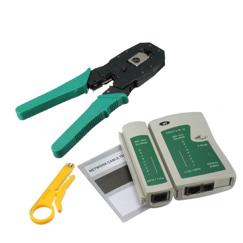 Neue Berufs RJ45 RJ11 RJ12 CAT5 CAT5e Tragbare LAN Network Tool Kit Utp Kabel Tester UND Zange Crimp Crimper Stecker clamp PC