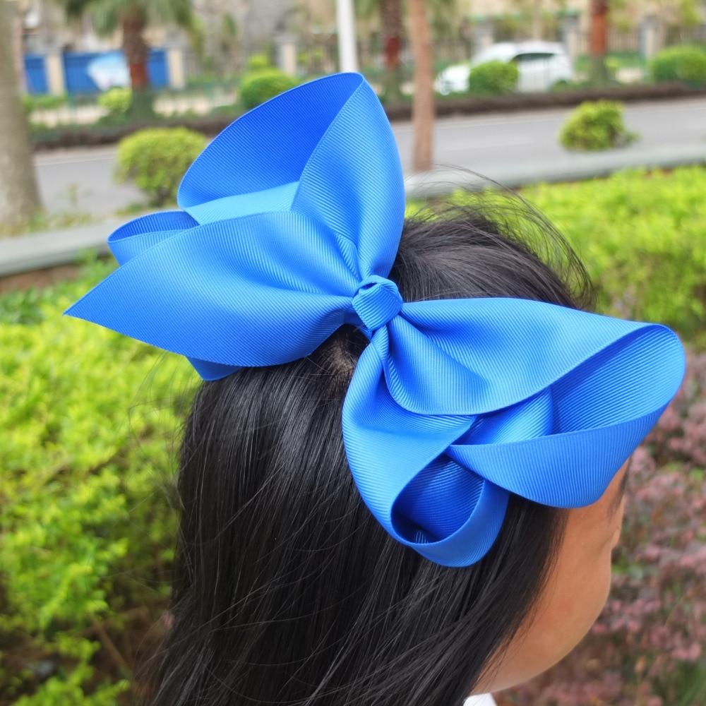 8 inch Super Extra Large JOJO Hair Bow Boutique BIG Hair Ribbons Bows Hairpins Hair Clips 40pcs/lot