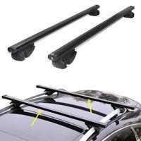 2PCS Black Aluminum alloy Roof rack beam For Cadillac SRX Universal version