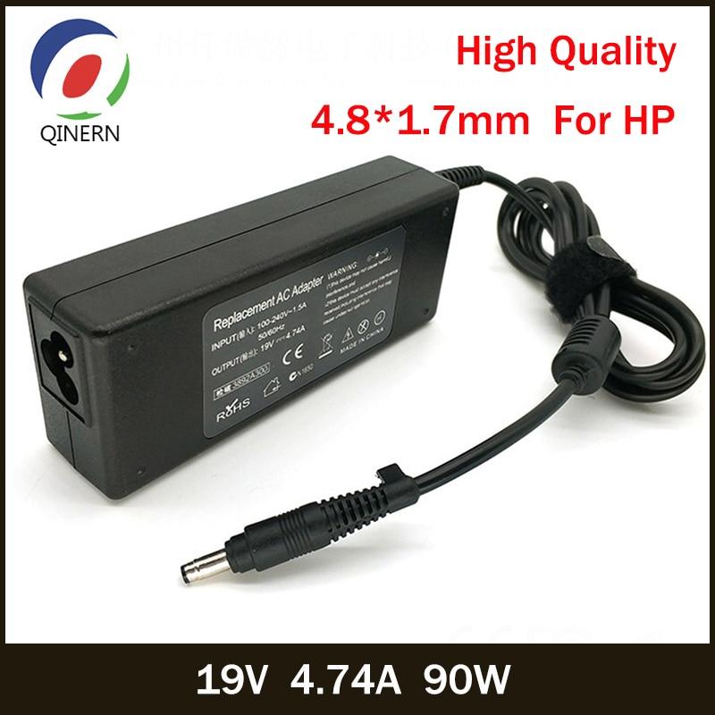 QINERN 19V 4.74A 90W 4,8*1,7mm AC adaptador de corriente de cargador de ordenador portátil para HP G70/G70t/G71 adaptador de ordenador portátil para HP cargador portátil