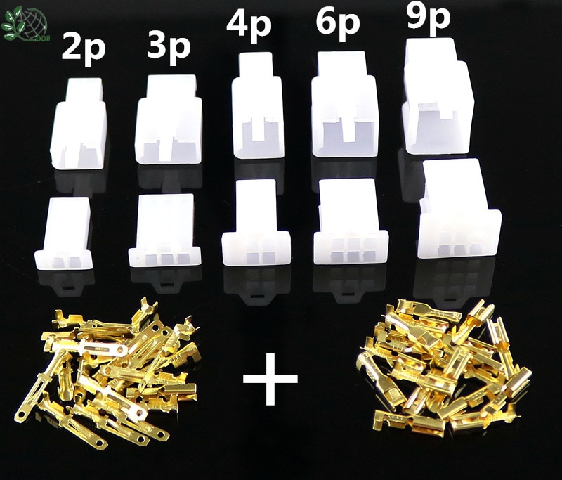 10/lote 2/3/4/6/9 pin 2,8mm cable eléctrico automotriz auto/coche 2,8 conector para e-bike, automóvil, motocicleta etc W