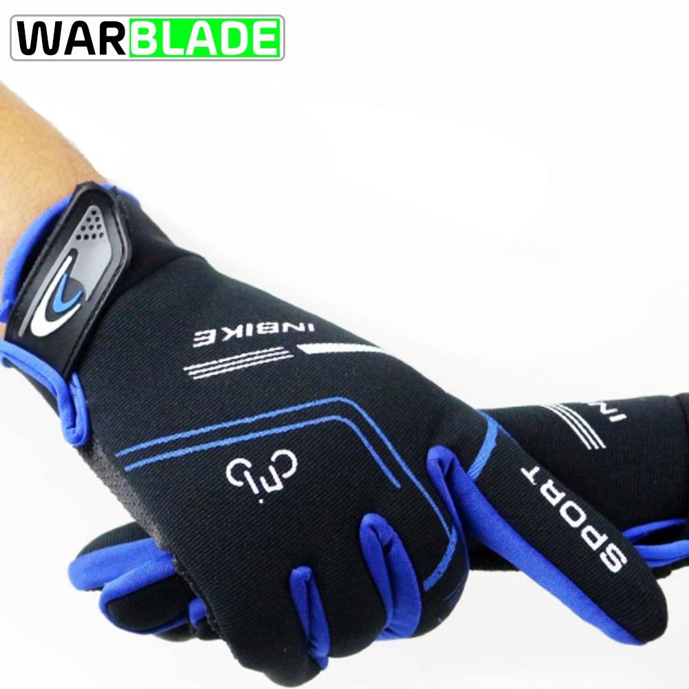WarBLade-Guantes de Ciclismo de dedo completo para hombre, antideslizantes, transpirables, para bicicleta...