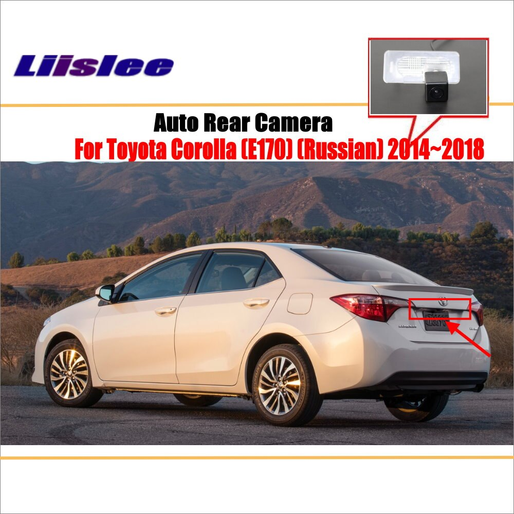 liislee rear view camera for peugeot 408 2014 2018 reverse hole parking back up camera night vision Liislee Reverse Rear View Camera For Toyota Corolla (E170) (Russian) 2014~2018 / Parking Back Up Camera / License Plate Lamp