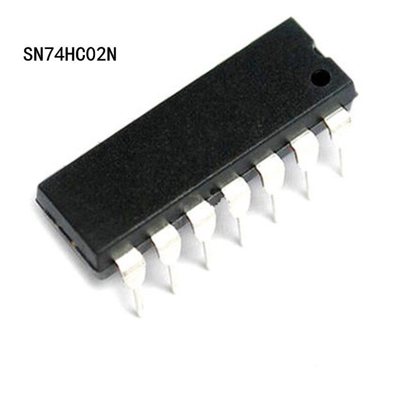 10 stücke SN74HC02N 74HC02N 74HC02 DIP14 Logic Gate Quad 2 Input NEUE