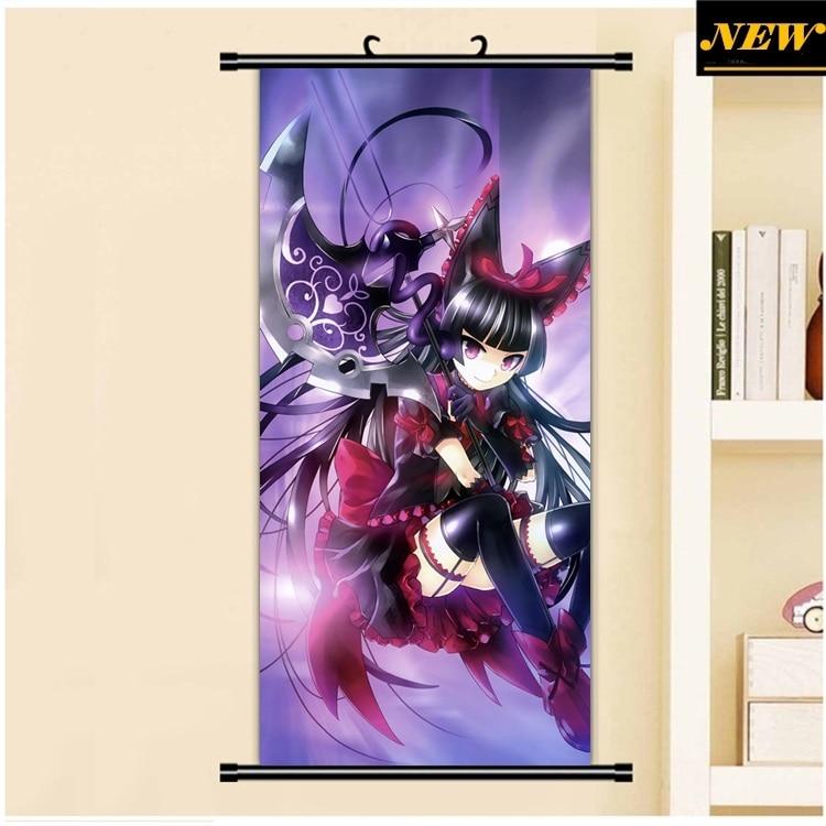 Compuerta Jieitai Kano Chi nite kawu tatakaerii rory mercury loli dibujos animados anime pared imagen mural póster tela rollo lienzo pintura