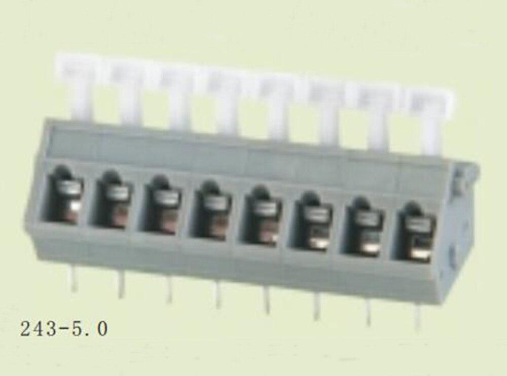 PCB Spring Terminal Block 5.0mm Pitch, ELT243-5.0 ,IEC450V17A CE Rohs UL300V15A 28-12AWG