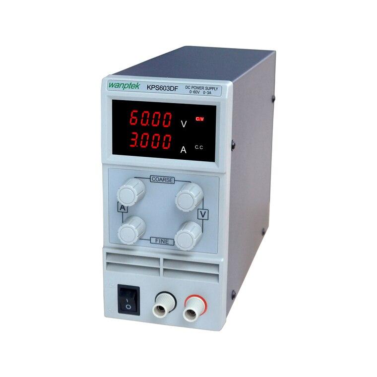 KPS603DF قابل للتعديل عالية الدقة مزدوج LED عرض التبديل DC امدادات الطاقة حماية وظيفة 60V3A 110V-230V 0.1V/0.001A الاتحاد الأوروبي