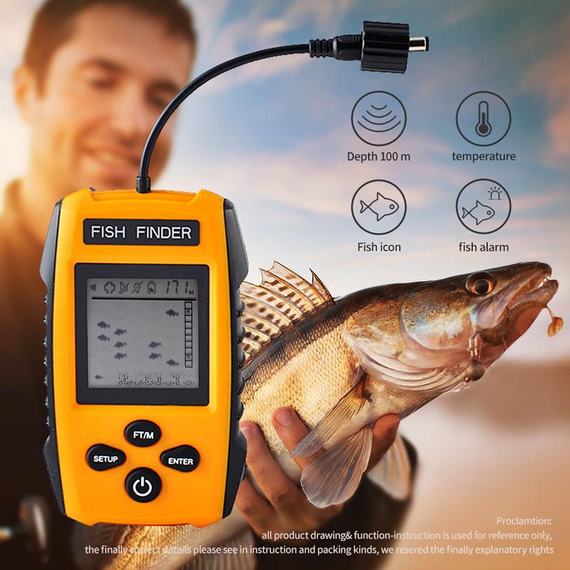 Erchang TL88E Portable Sonar Alarm Fish Finder 100M  LCD Fish Finders Echo Sounder Fishing Finder