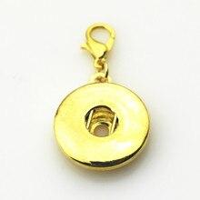 20 unids/lote oro intercambiable DIY encanto Snap botones accesorio 18mm Snap joyería Metal Snap botón colgantes collar dijes