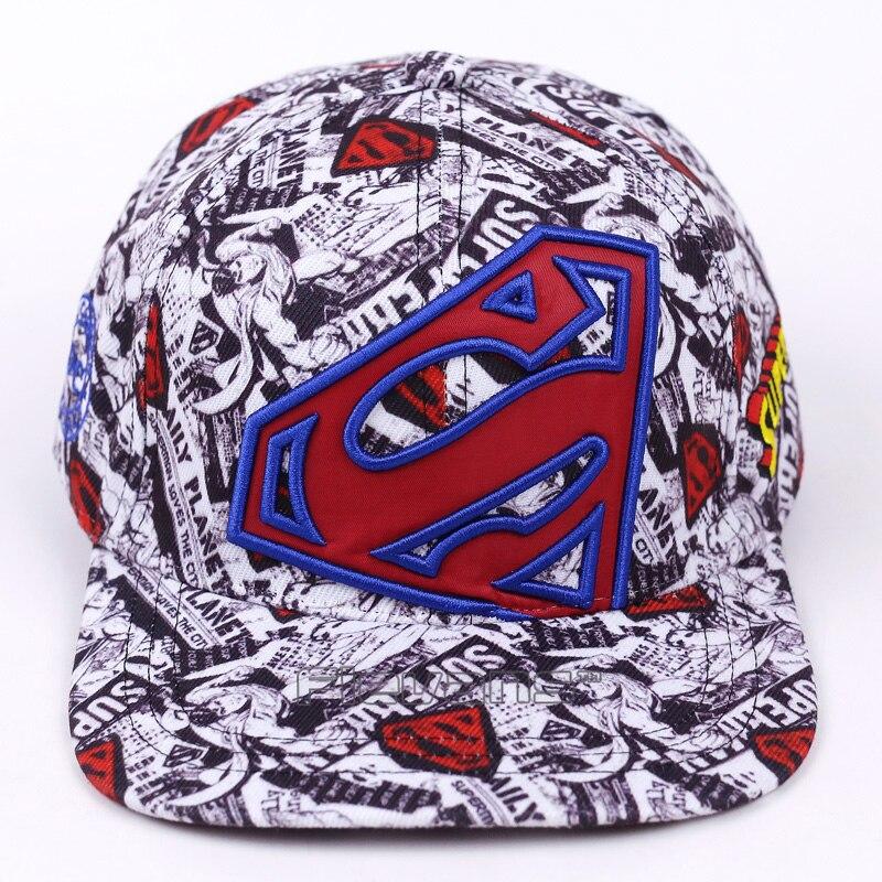 Superman Logo Baseball Cap Men Women Fashion Brand Snapback Hip Hop Cap