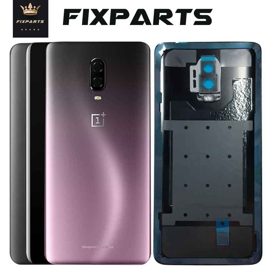 Original New Oneplus 6 6T Battery Back Cover Oneplus 6T Housing Rear Door Case With Camera Lens One