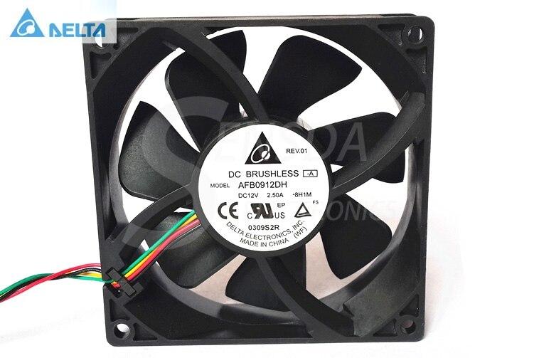 Для delta AFB0912DH 9025 9225 90 мм 9 см DC 12 В 2.5A pwm 4-контактный 4-проводной мощный осевой вентилятор