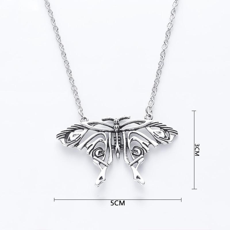 Mamma Mia Necklace Pendant Antique Butterfly Pendant Big Butterfly Costume Necklace Trendy Jewelry Accessories For Women