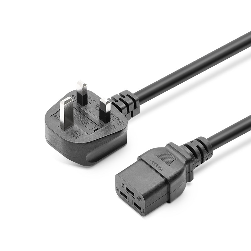 IEC C19 para enchufe del Reino Unido 3 clavijas AC Adaptador de...