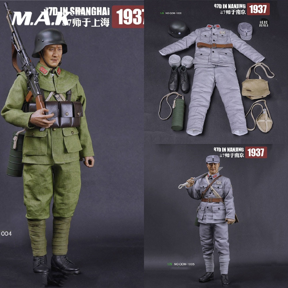 "1/6 ropa de hombre Solider Militar Nacional Revolucionario ejército 87th división en NanJing conjunto de ropa modelo para 12 ""figura de acción"