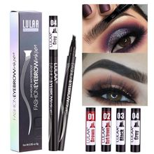 4 Colors Microblading Eyebrow Marker Pen 4 Head Liquid Eyebrow Thin Pencil Waterproof Tattoo Eye Bro
