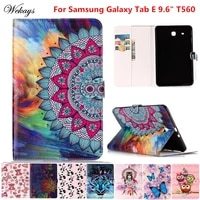 wekays for samsung tab e 9 6 t560 cartoon leather funda case for coque samsung galaxy tab e 9 6 t560 t561 tablet cover case kid