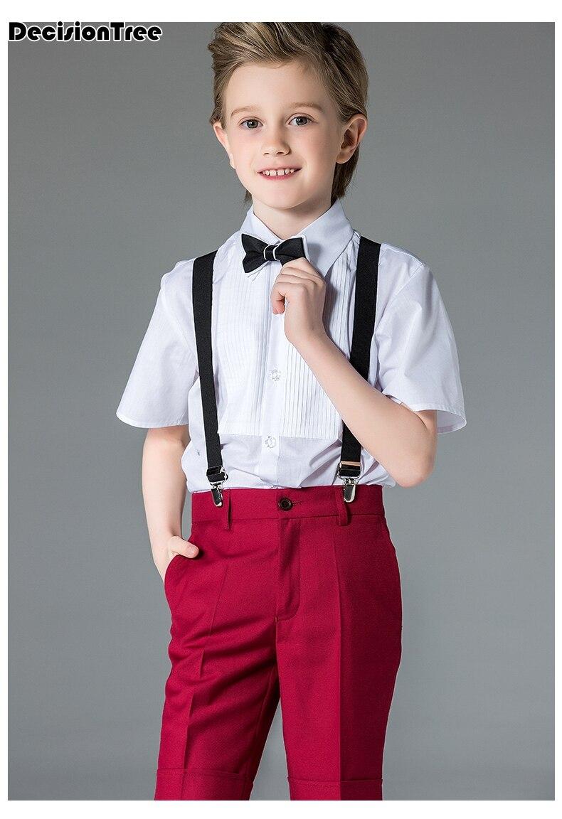 2019 new children cotton japanese korean student school uniforms set suit for girls boys white shirts navy blue skirt pants