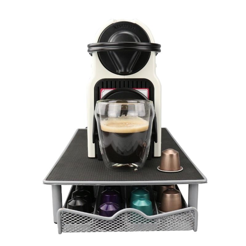 Base para cápsulas Nespresso cajón de almacenamiento organizador de Metal 44 Cápsulas Nespresso envío gratis