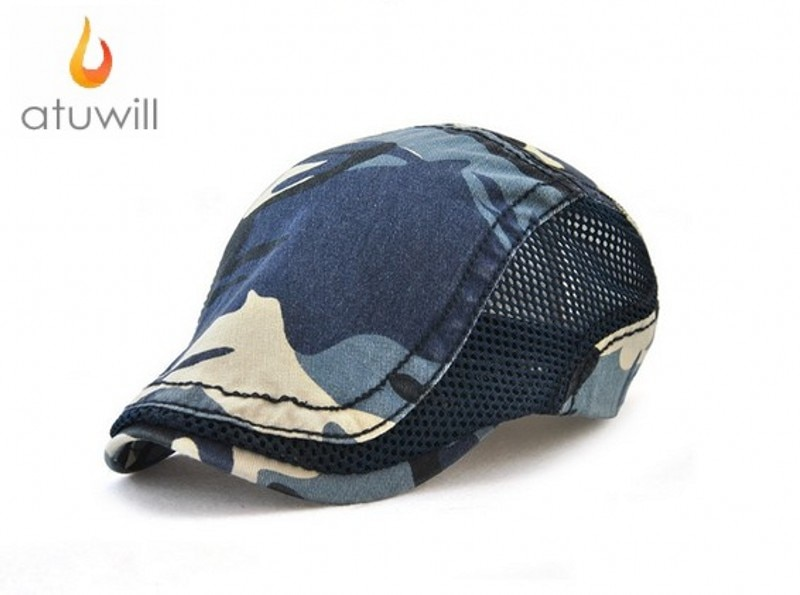 Atuwill camuflaje boinas sombrero gorras planas para hombres Peaky Blinders sombrero para mujeres boina hombre feminina boinas para hombres