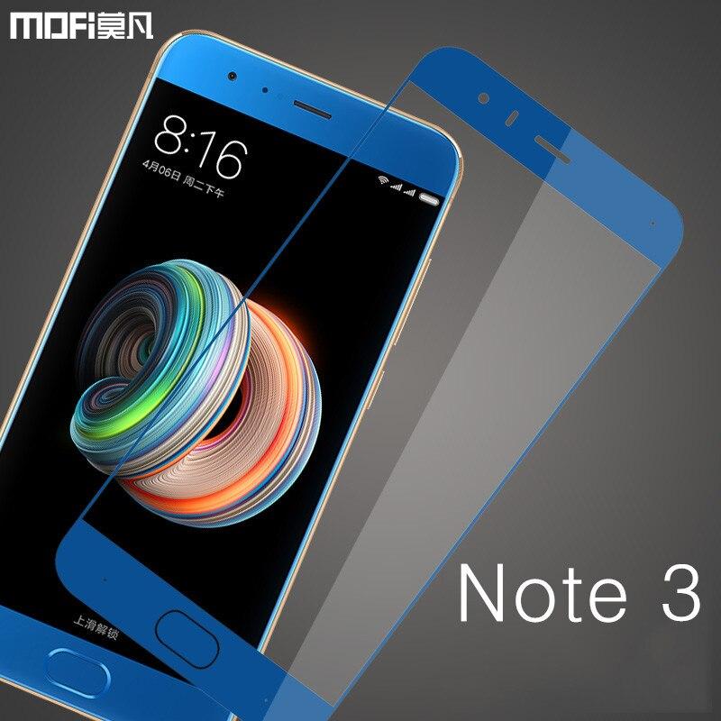 Para Xiaomi mi nota 3 vidro protetor de tela MOFi para xiaomi nota 3 filme protetor de vidro temperado de segurança de protecção 9 H mi note3 vidro