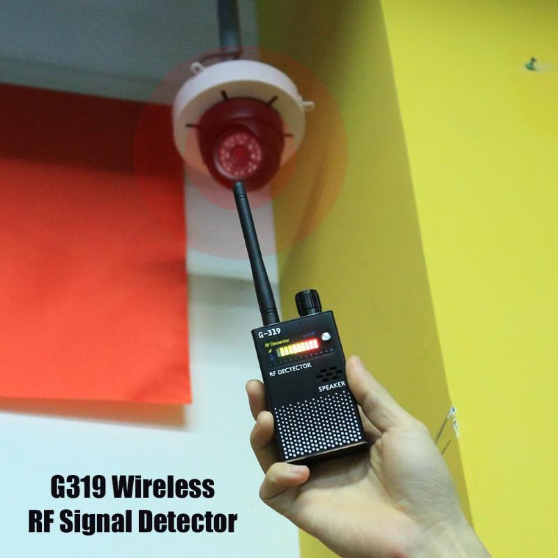 (EU Plug) G319 Anti-GPS Locator Cell Phone Detector Wireless RF Signal Detector Full Range Bug Detector Finder Protect Security