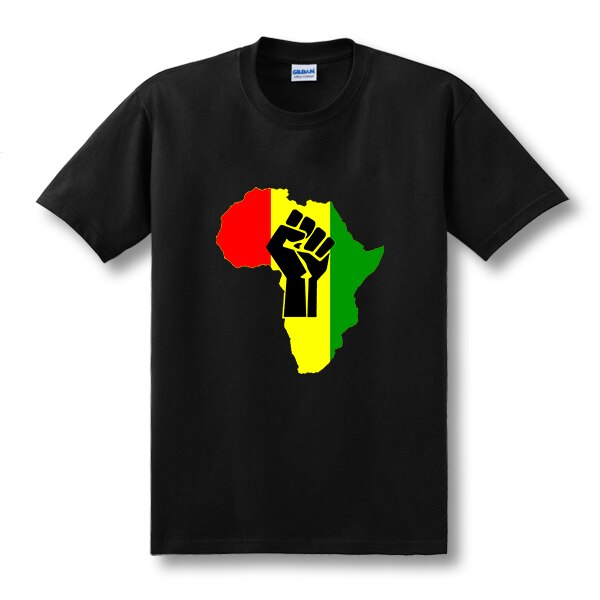 Nueva Camiseta de algodón con Logo de musica AFRICA Power Rasta Reggae para hombre, camiseta de manga corta con cuello redondo, talla nueva S-3XL